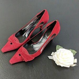 Kate Spade Red Kitten Heel